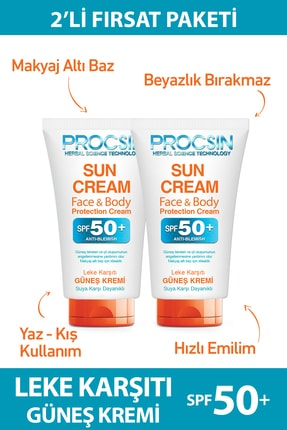 Procsin Güneş Kremi 2 x 50 ml 0