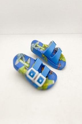 Gezer Erkek Çocuk Mavi Yazlık Robot Figürlü  Terlik Modeli - 1