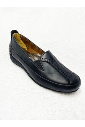 Gülperi Kadın Siyah Comfort Hakiki Deri Diyabet Ayakkabısı 4