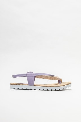 Elle Kadın Lila Parmakarası Sandalet 0