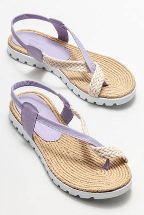 Elle Kadın Lila Parmakarası Sandalet 1