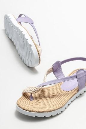 Elle Kadın Lila Parmakarası Sandalet 2