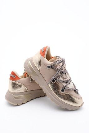 Marjin Kadın Altın Dolgu Topuk Spor Ayakkabı Sneaker 0