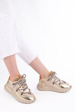 Marjin Kadın Altın Dolgu Topuk Spor Ayakkabı Sneaker 3