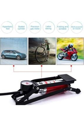 MasterCar Basınç Göstergeli Top Bisiklet Araba Ayak Pompası 2