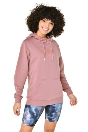 bilcee Kadın Pembe Kapüşonlu Sweatshirt Iw-9041 2