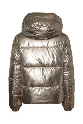 Vero Moda Kadın Gümüş Parlak Şişme Mont 10237694 Vmupsalasılver 0