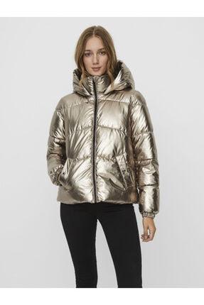 Vero Moda Kadın Gümüş Parlak Şişme Mont 10237694 Vmupsalasılver 2