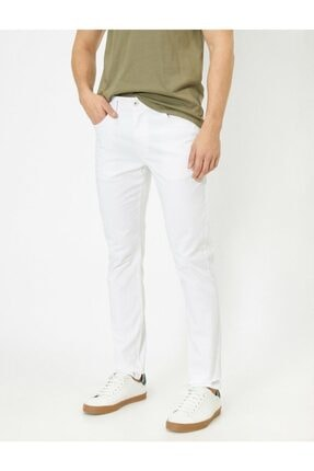 Koton Erkek Cep Detaylı Slim Fit Pantolon 1