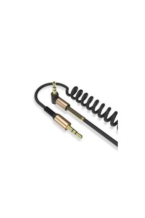 Concord C-807 1.8m Metre 3.5mm Aux L Spiral Ses Aktarım Kablosu 0