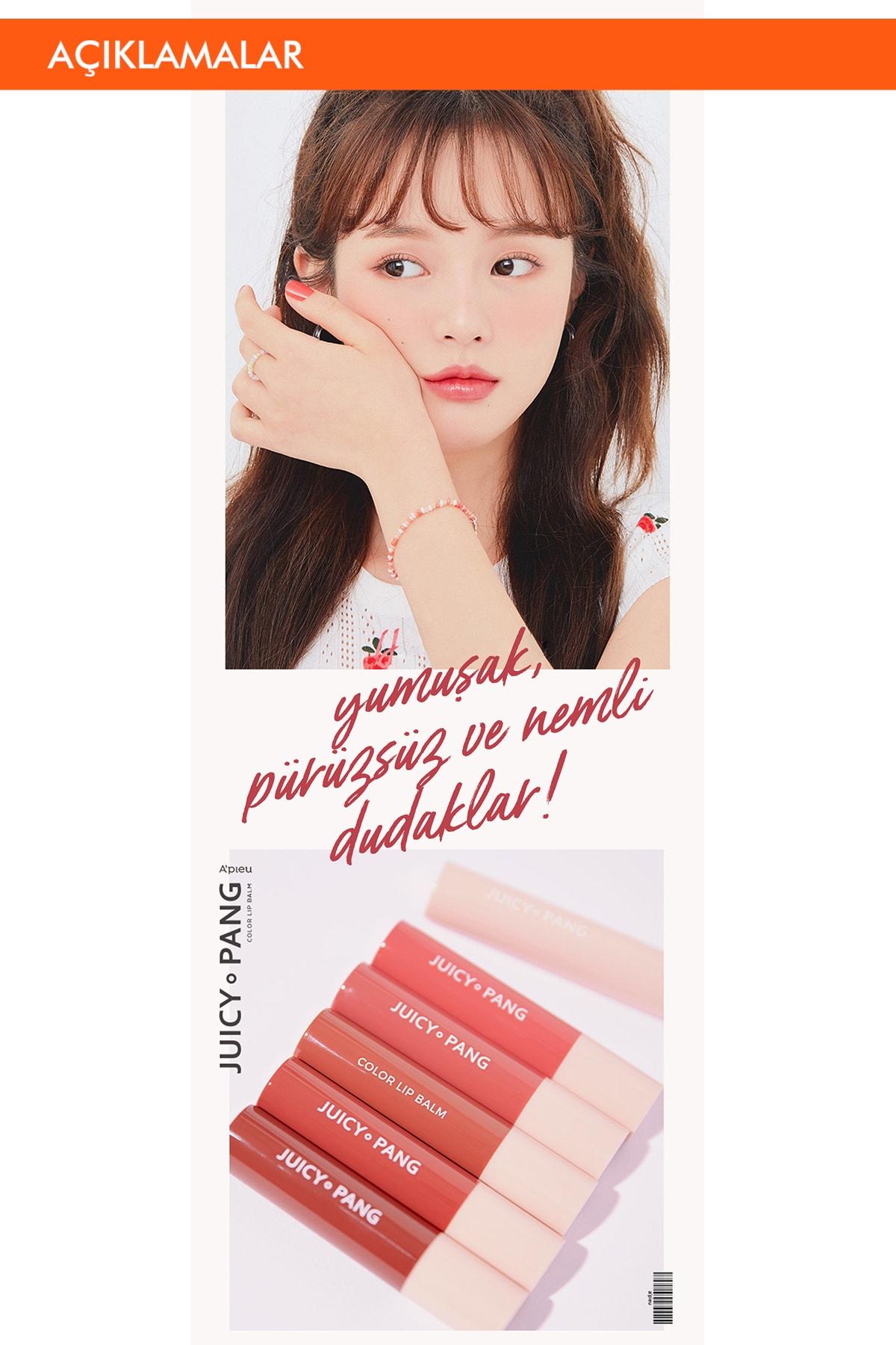 Missha Uzun Süre Kalıcı Canlı Renkli Nemlendirici Dudak Balmı APIEU Juicy-Pang Color Lip Balm (RD02) 1
