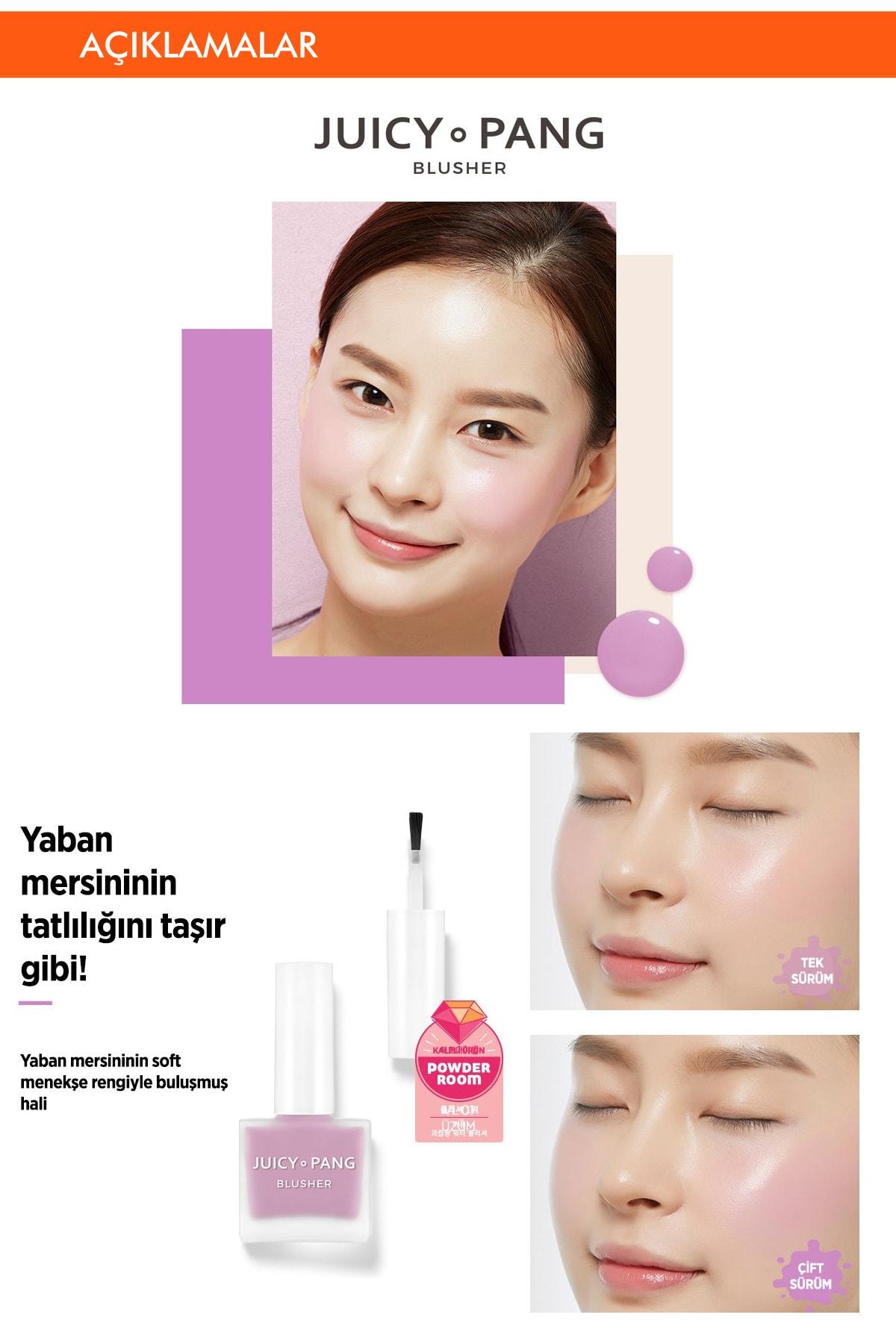 Missha Doğal Görünüm Sunan Nemlendirici Likit Allık 9g. APIEU Juicy-Pang Water Blusher (VL02) 2