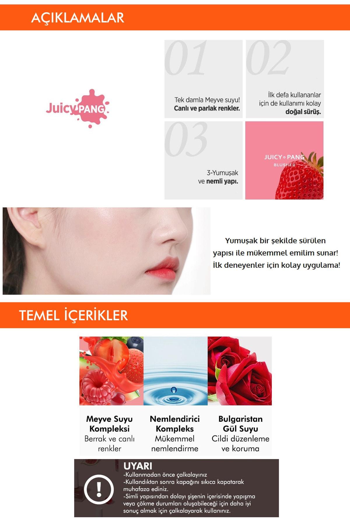 Missha Doğal Görünüm Sunan Nemlendirici Likit Allık 9g. APIEU Juicy-Pang Water Blusher (PK01) 3