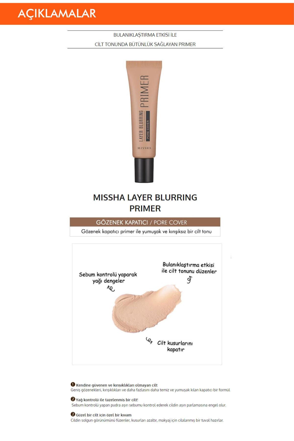 Missha Gözenek Kapatıcı Pürüzsüzleştirici Makyaj Bazı 20ml Layer Blurring Primer (Pore Cover) 1