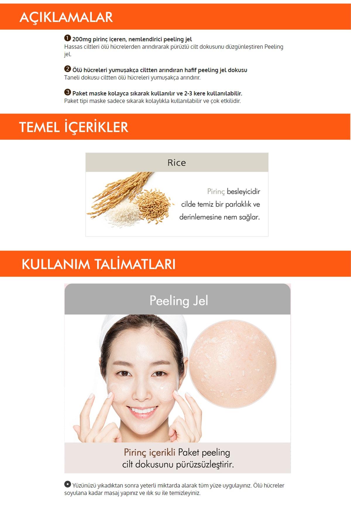 Missha Ölü Deri Arındırıcı Aydınlatıcı Pirinç Peelingi 10ml Pure Source Pocket Pack Rice 1