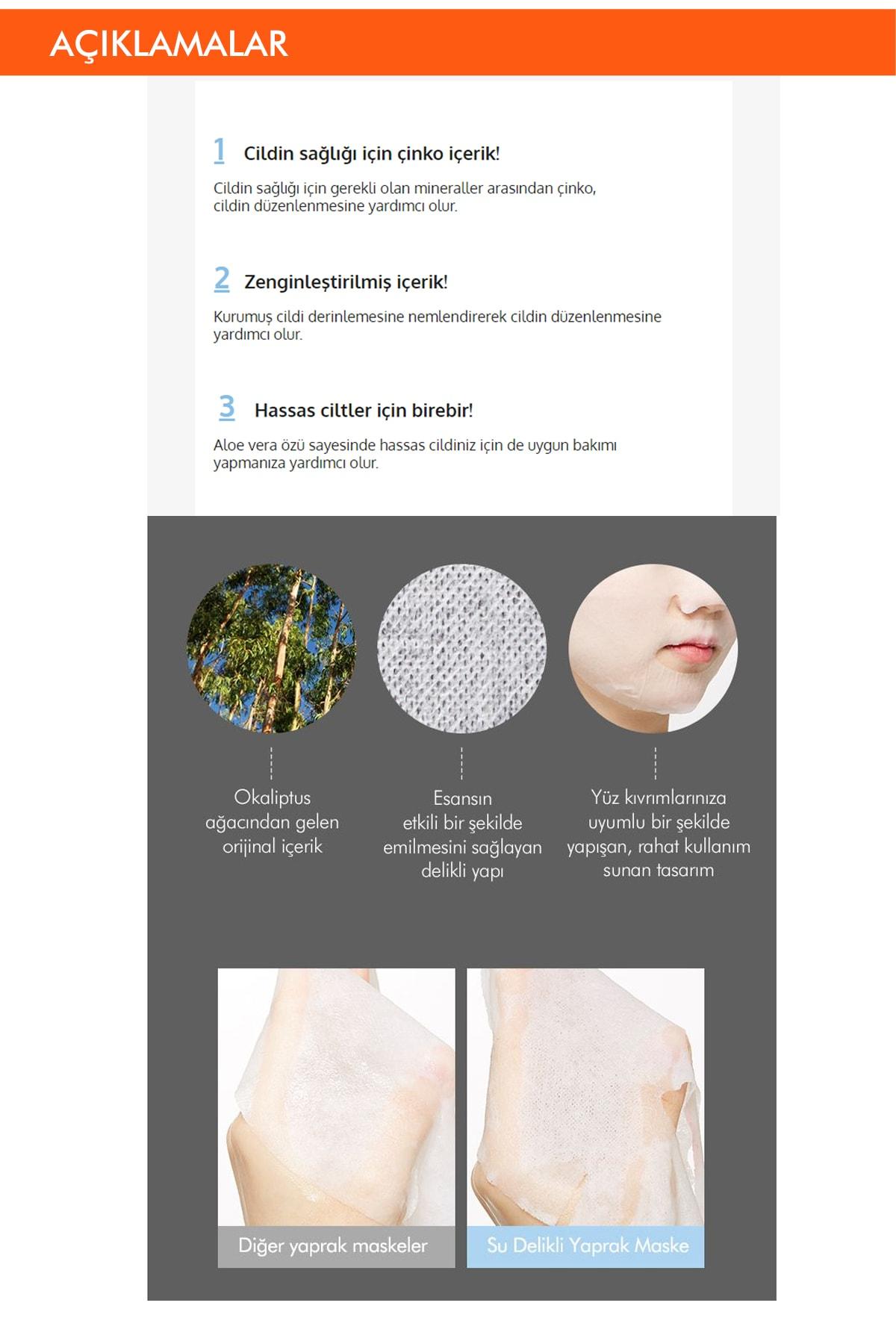 Missha Hassas Ciltler İçin Nemlendirici Çinko Özel Bakım Maskesi Cicative Zinc Sheet Mask 1