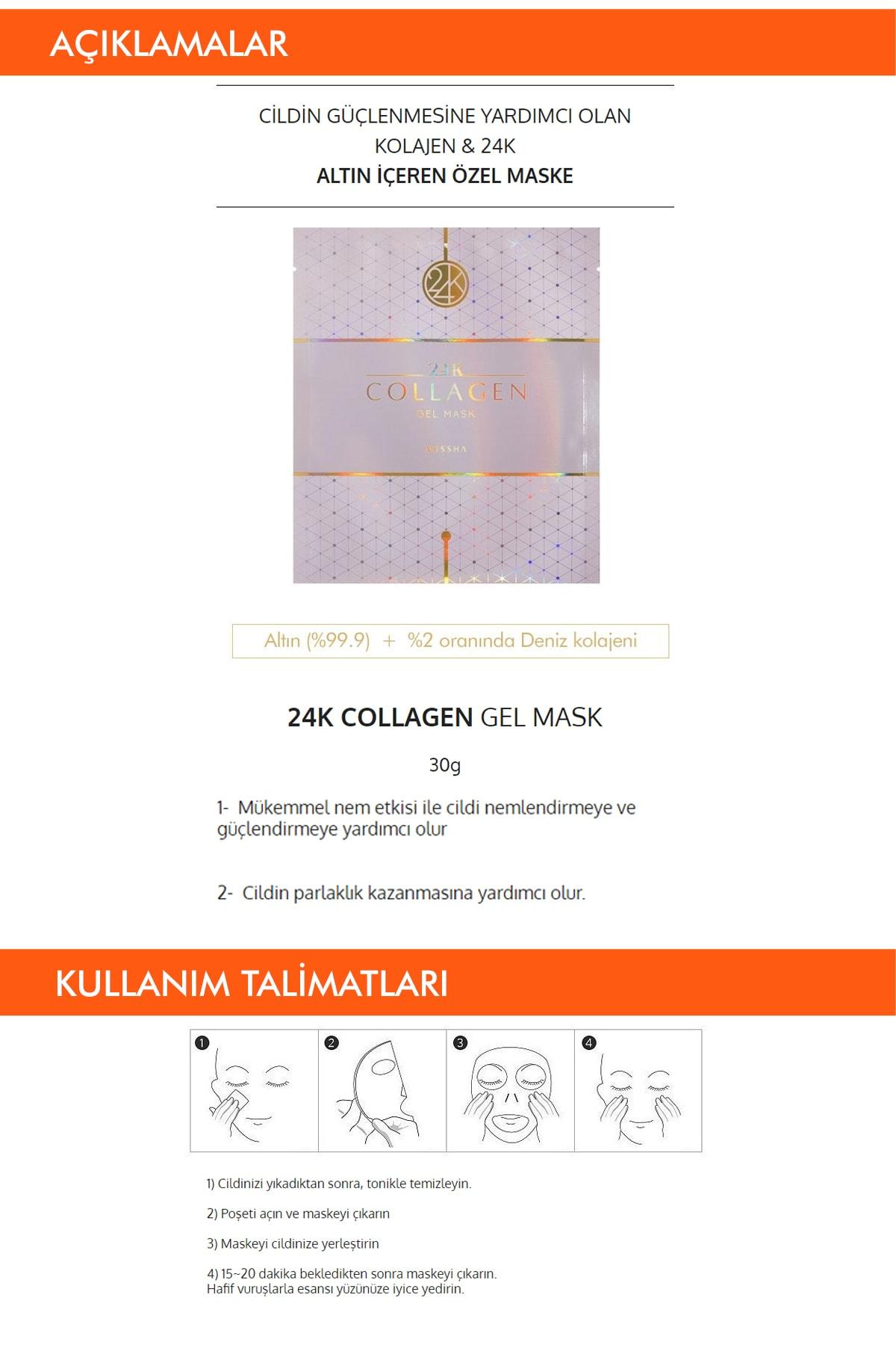 Missha Kolajen ve Altın İçeren Sıkılaştırıcı Jel Maske 1ad MISA 24K Collagen Gel Mask
