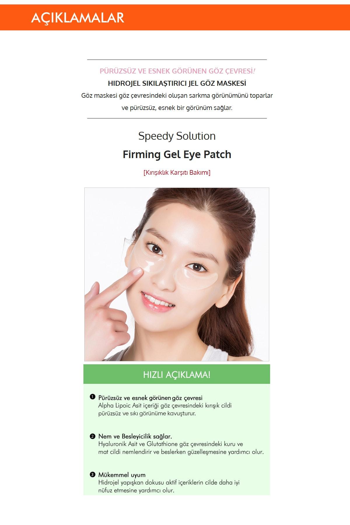 Missha Sıkılaştırıcı Adenozin İçerikli Göz Maskesi Speedy Solution Firming Gel Eye Patch 1