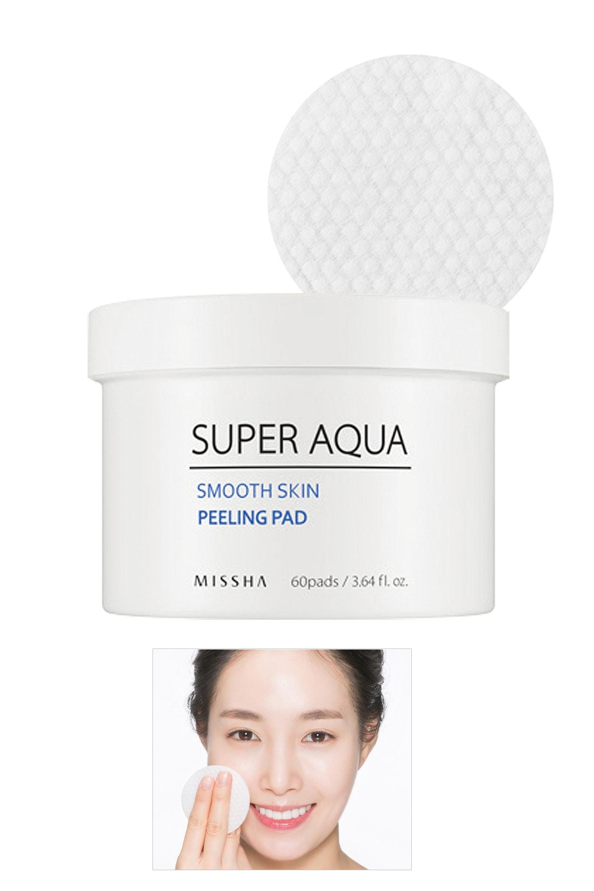 AHA BHA İçeren Pürüzsüz Görünüm Sunan Günlük Peeling Ped (60Adet) Super Aqua Smooth Peeling Pad