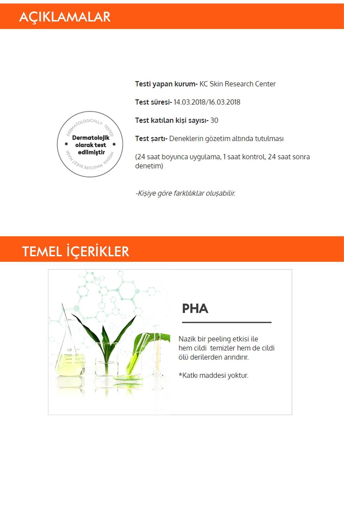 Missha Pha Ölü Deri Arındırıcı Yaprak Maske (1ad) Mascure Peeling Solution Sheet Mask 2