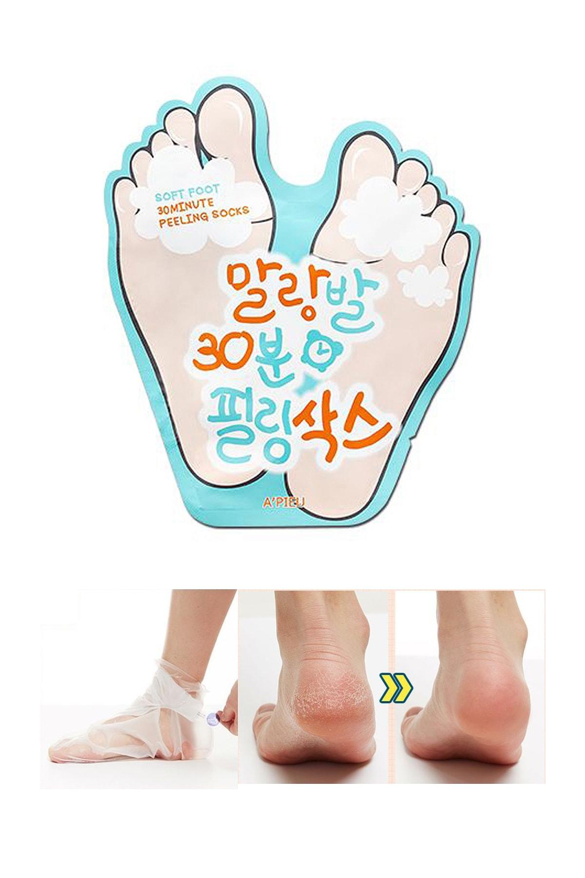 Missha Ölü Derilerden Arındıran Ayak Maskesi 40ml APIEU Soft Foot Peeling Socks 0