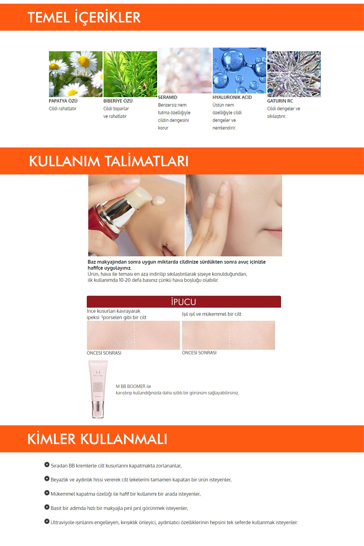 Missha Yoğun Kapatıcılık Sunan BB Krem M Perfect Cover BB Cream SPF42/PA+++ No: 21 ( 20 ML ) 3
