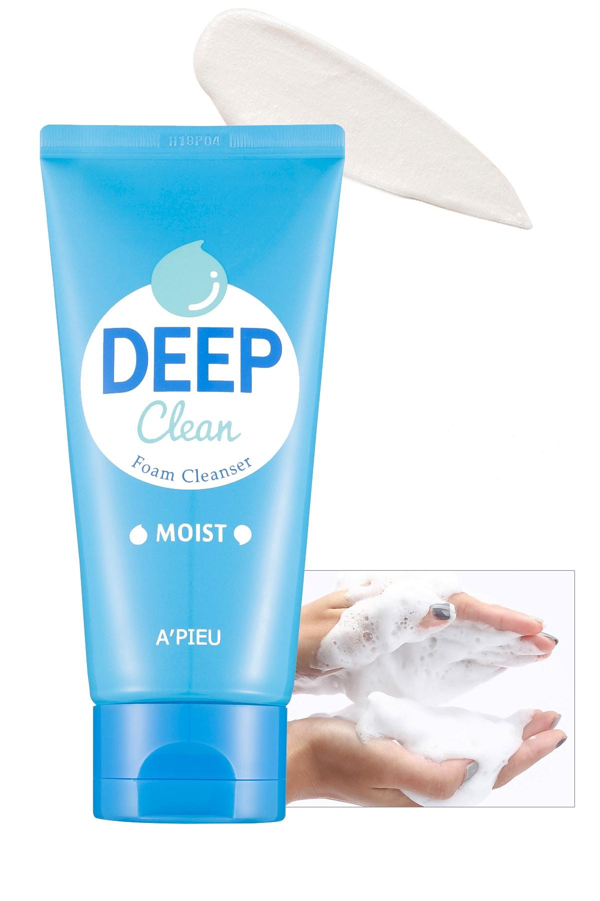 Missha Nemlendirici Etkili Yüz Yıkama Köpüğü 130ml APIEU Deep Clean Foam Cleanser (Moist) 0