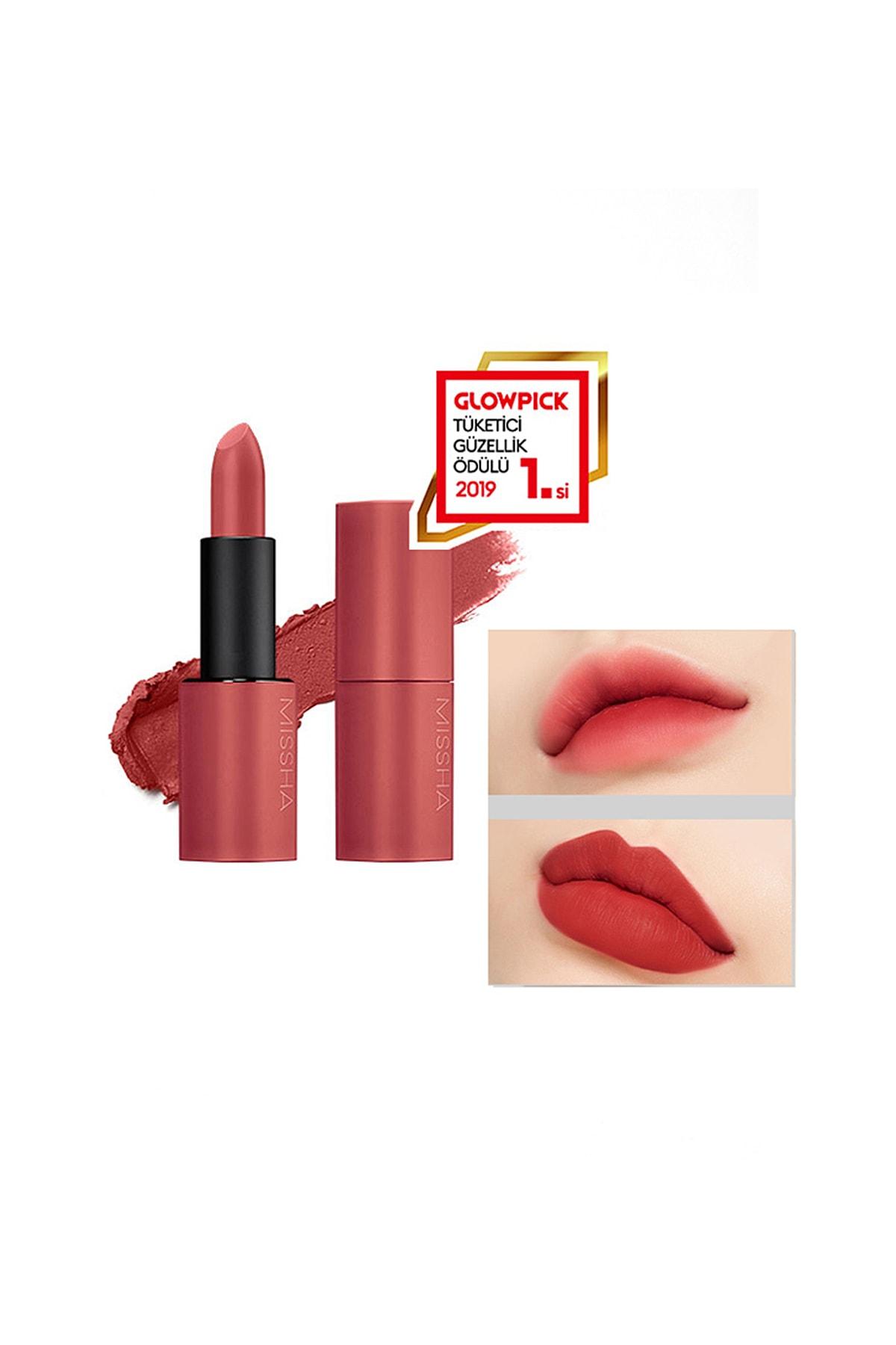 Yoğun Pigmentli Besleyici Kadife Dokulu Mat Ruj Dare Rouge (Velvet/No.28 Off the red)