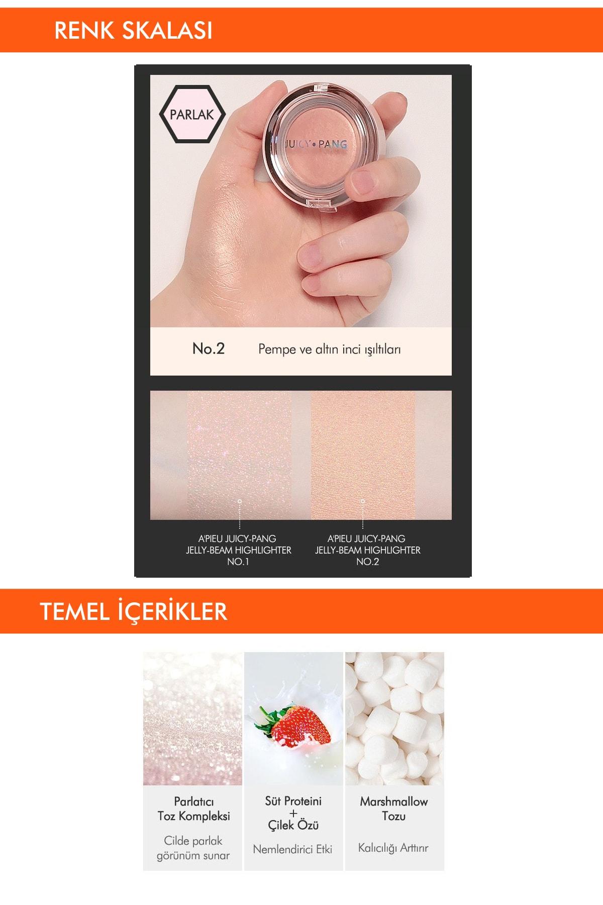 Missha Işıltılı Jel Aydınlatıcı APIEU Juicy-pang Jelly-beam Highlighter (No.2) 3