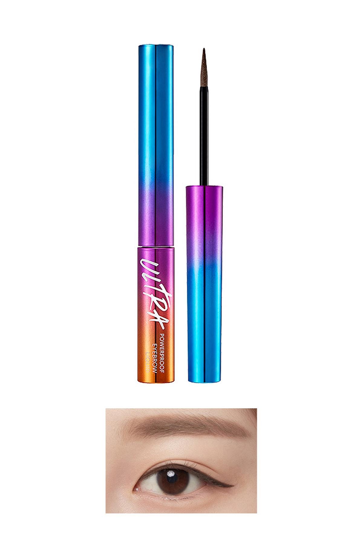 Missha Kalıcı Likit Kaş Şekillendirici Ultra Powerproof Eyebrow Liquid [Gray Brown] 0