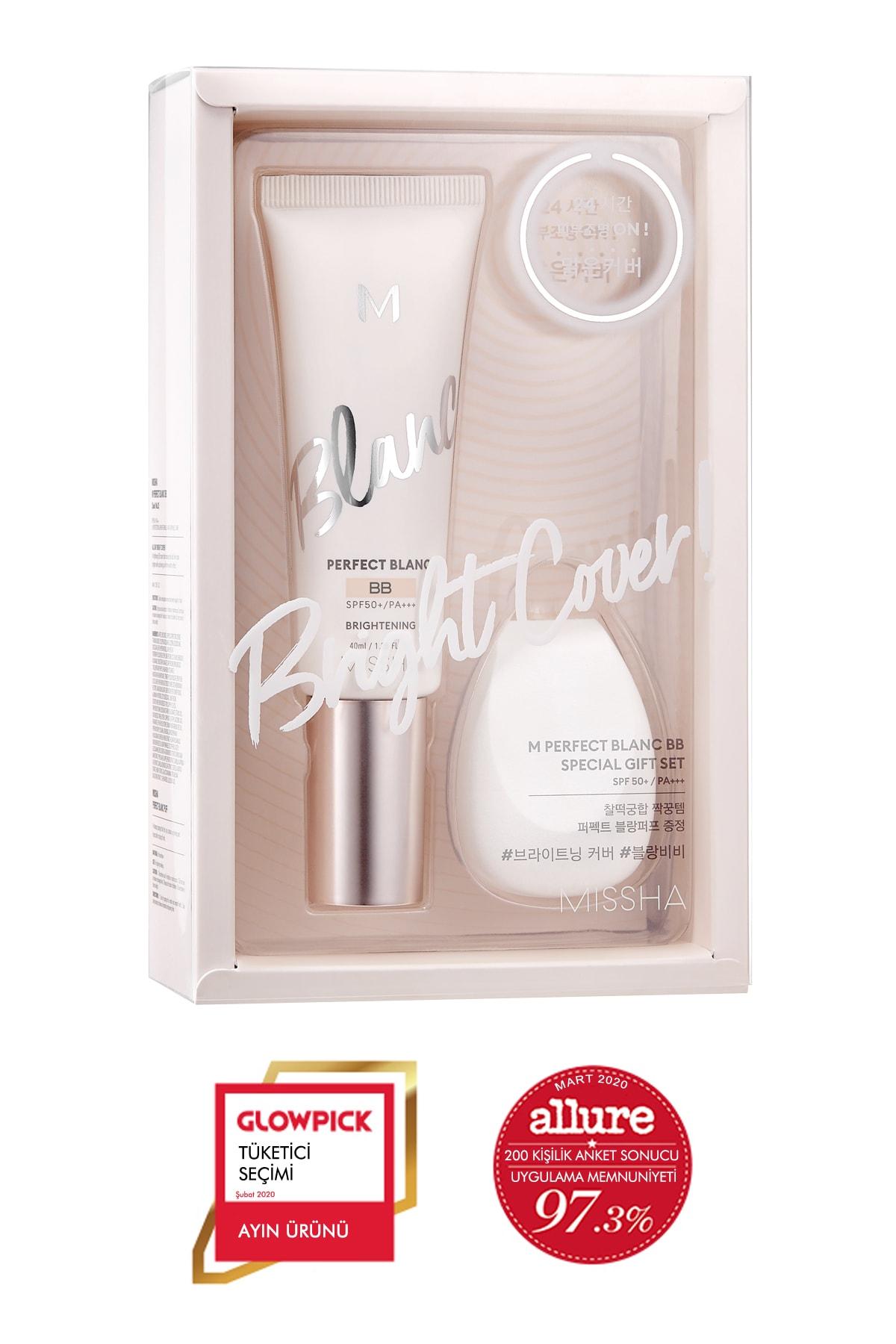 Missha Ton Eşitleyen Aydınlatıcı BB Krem Seti 40ml+1pcs M Perfect Blanc BB Special Gift Set (Vanilla/No.23) 0