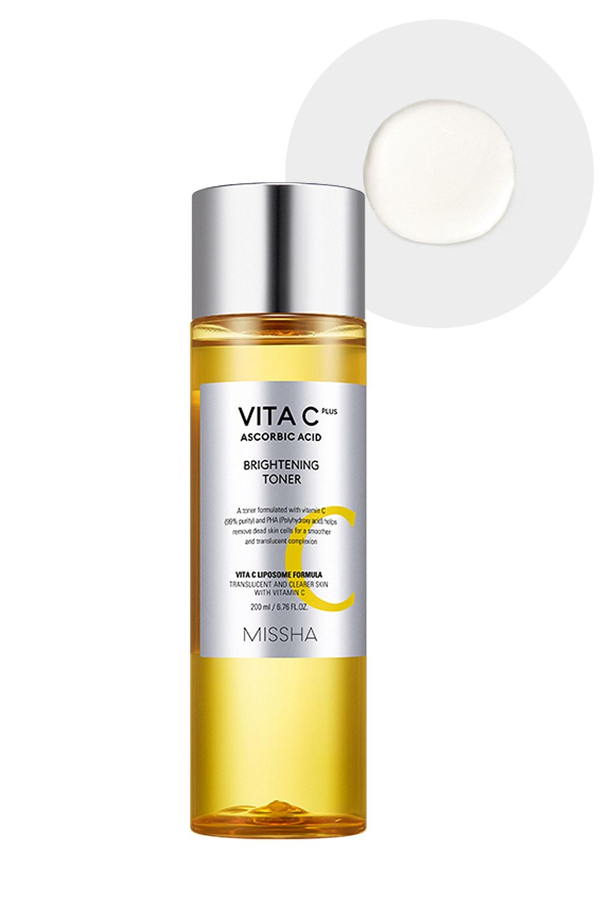 Leke Karşıtı C Vitamini İçerikli Aydınlatıcı Tonik 200ml Vita C Plus Brightening Toner