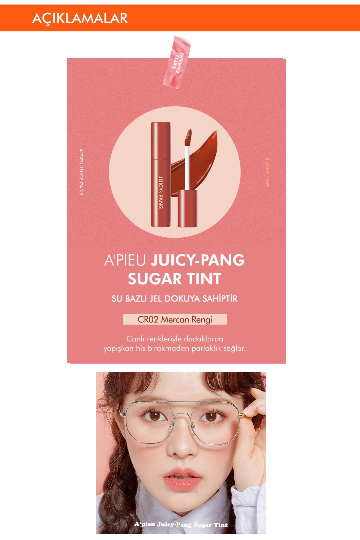 Missha Uzun Süre Kalıcı Parlak Su Bazlı Jel Tint APIEU Juicy-Pang Sugar Tint (CR02) 2