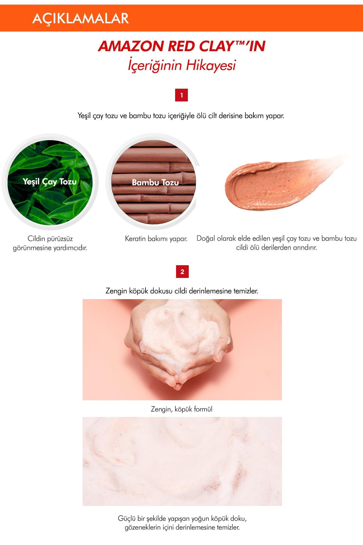 Missha Gözenekli Ciltler İçin Amazon Kili Temizleyici 120ml Amazon Red Clay Pore Pack Foam Cleanser 4
