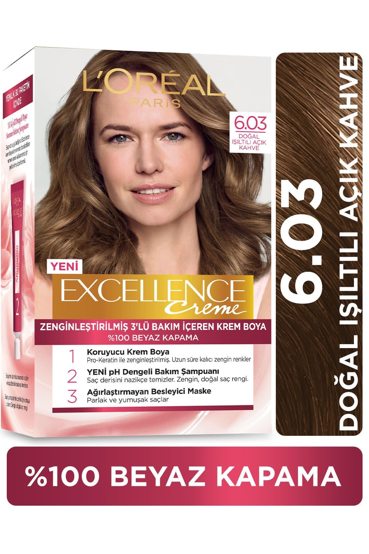 Excellence Creme Saç Boyası 6.03 Yoğun Koyu Kumral