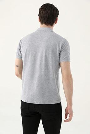 D'S Damat Ds Damat Regular Fit Gri Pike Dokulu T-shirt 2