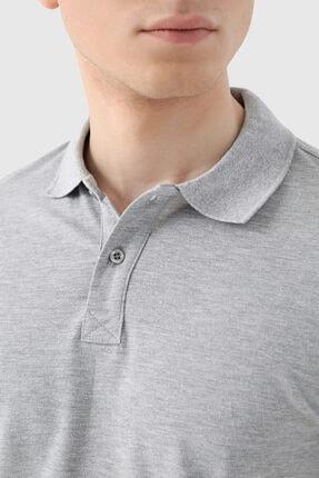 D'S Damat Ds Damat Regular Fit Gri Pike Dokulu T-shirt 3
