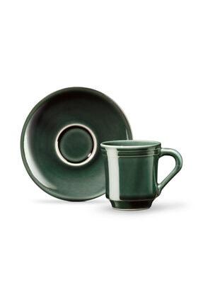 Madame Coco Yeşil Kahve Fincan Seti  2'li 1