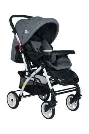 4 Baby 4baby Active Çift Yönlü Bebek Arabası Gri 0
