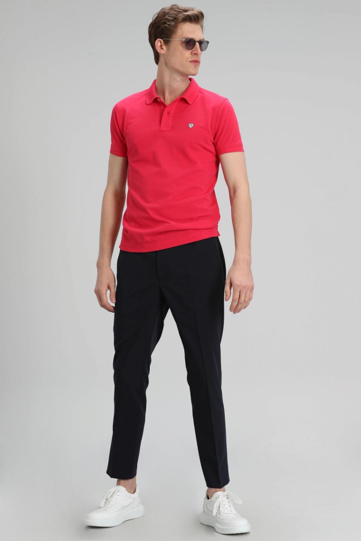 Lufian Laon Spor Polo T- Shirt Fuşya 1
