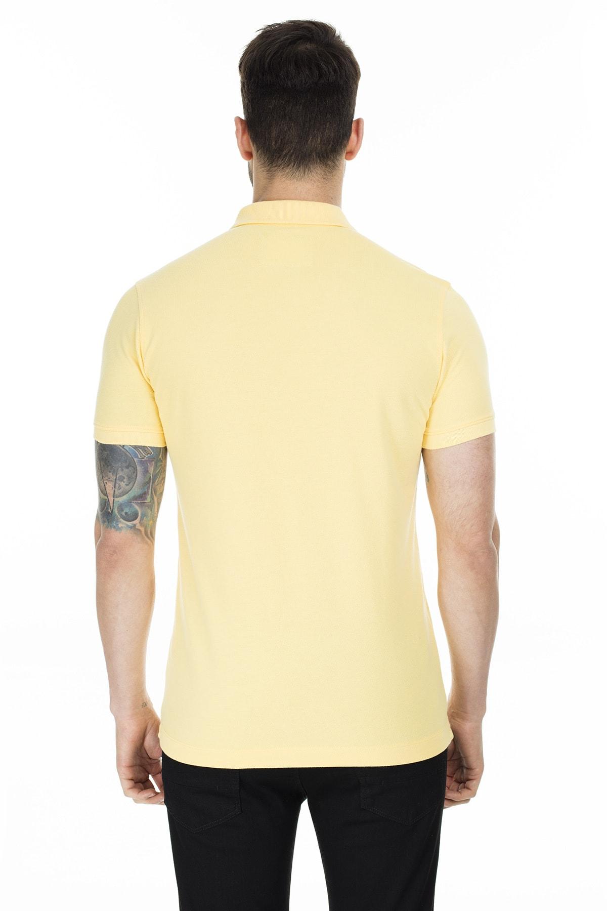 Lufian Laon Spor Polo T- Shirt Sarı 1