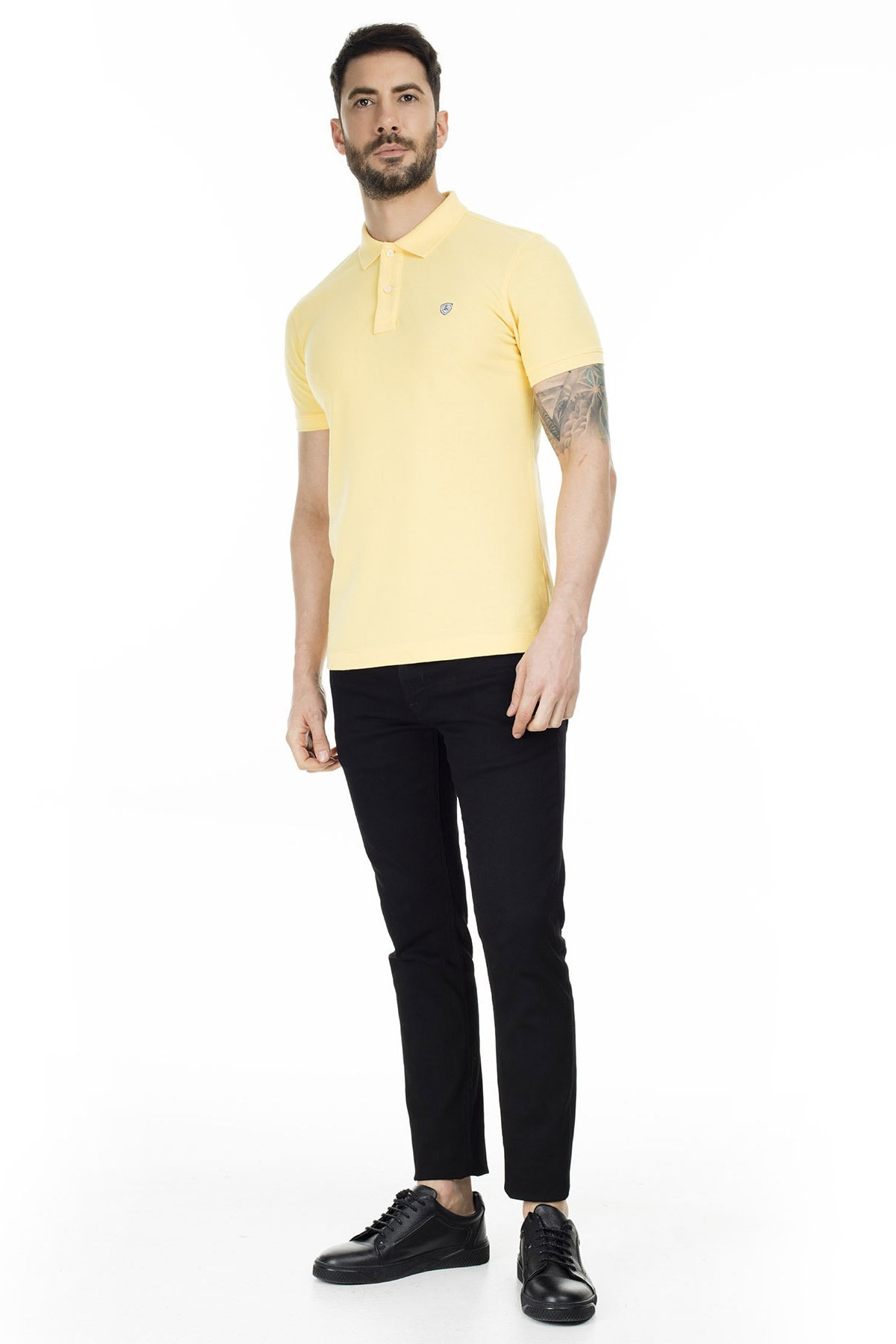 Lufian Laon Spor Polo T- Shirt Sarı 3