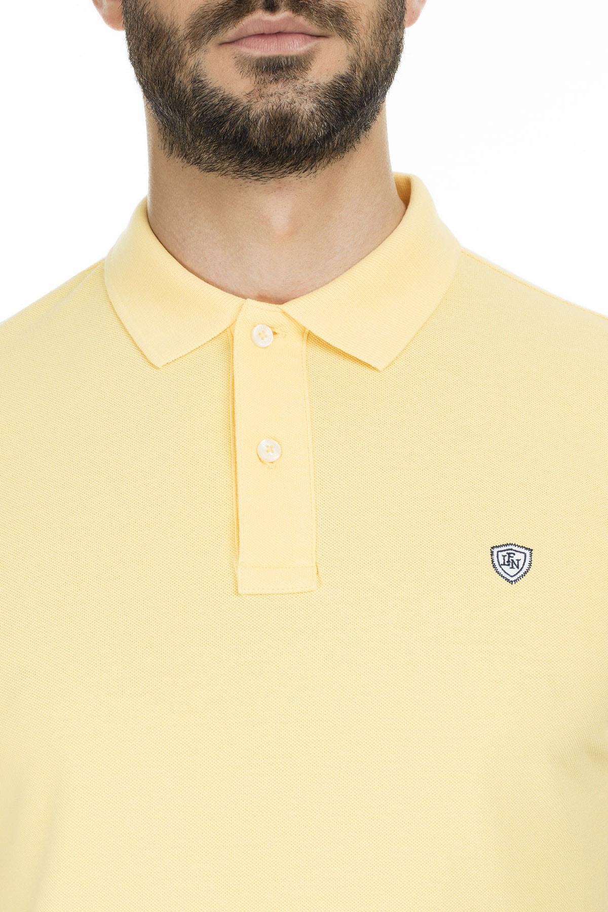 Lufian Laon Spor Polo T- Shirt Sarı 4