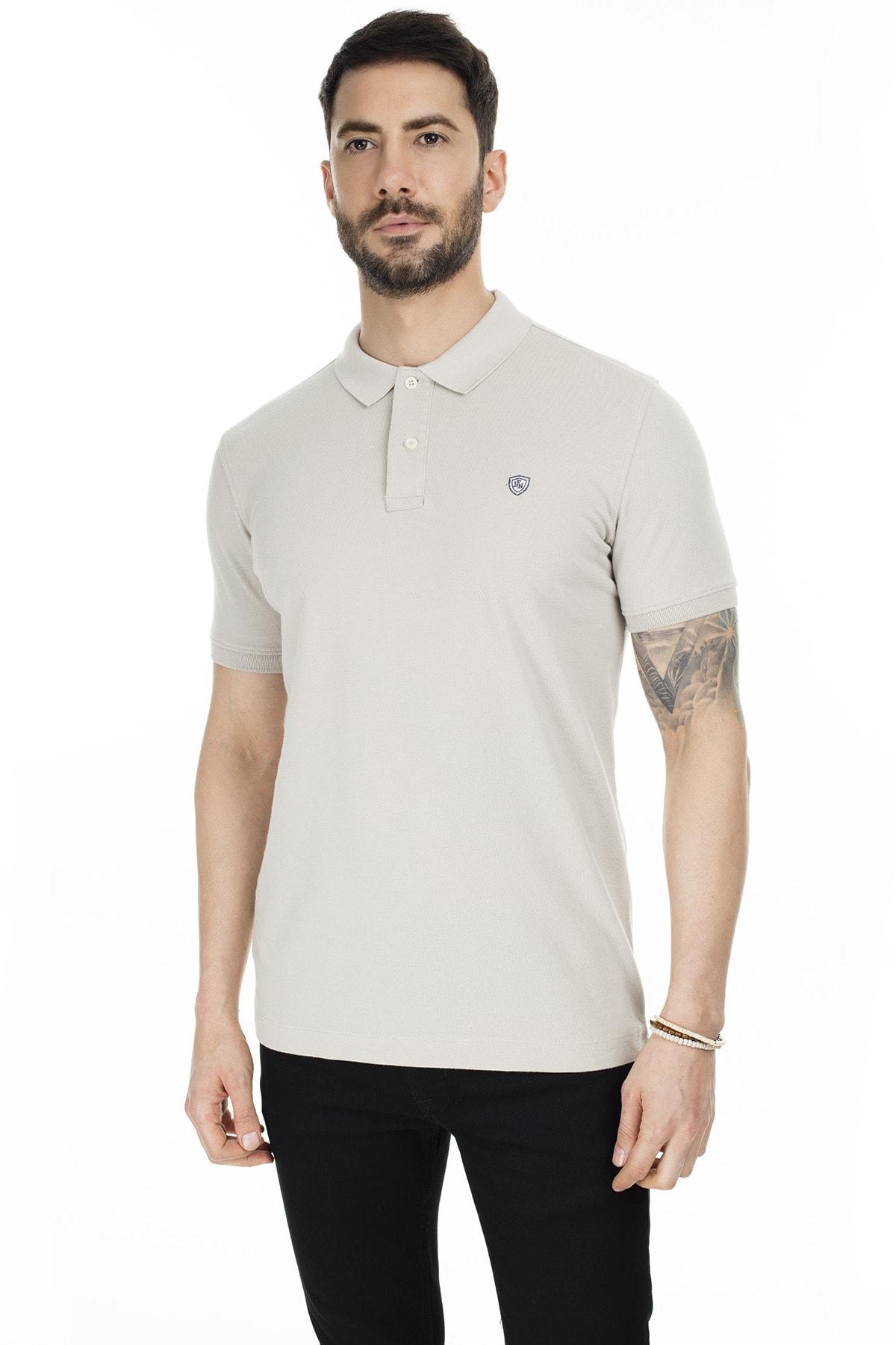 Lufian Laon Spor Polo T- Shirt Taş 2