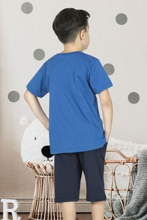 ÖZKAN underwear Özkan 31838 Erkek Çocuk Pamuklu Şortlu Pijama Takımı 1