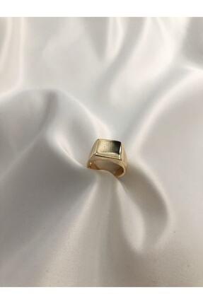 The Y Jewelry Gold Kare Şövalye Ayarlanabilir Yüzük 1