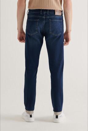 Avva Erkek Lacivert Slim Fit Jean Pantolon A11y3559 3