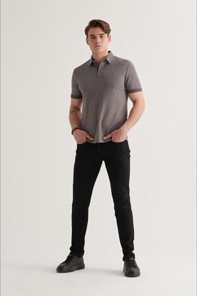 Avva Erkek Siyah Slim Fit Jean Pantolon A11y3701 4