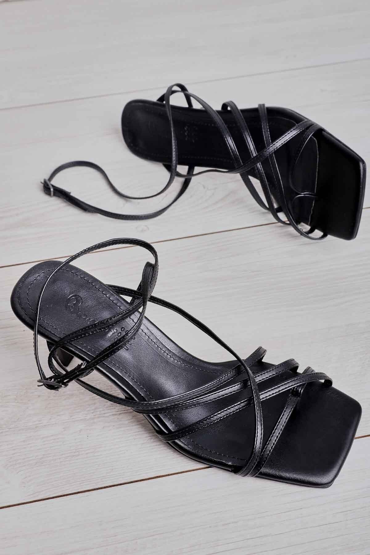 Siyah Kadın Klasik Topuklu Ayakkabı K05503530309