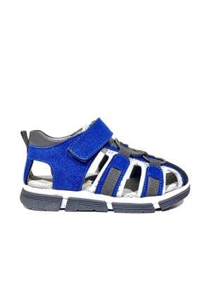 Toddler 2905-1 Ortopedik Hakiki Deri Erkek Çocuk Mavi Sandalet 0